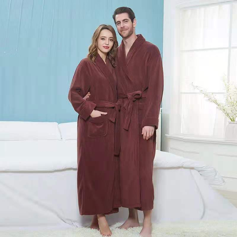 Big and Tall Cotton Bathrobe Men Women Thickended Lengtheded Bathrobes Terry Towel Bath Robe Dressing Gown Lovers Robes Homewear