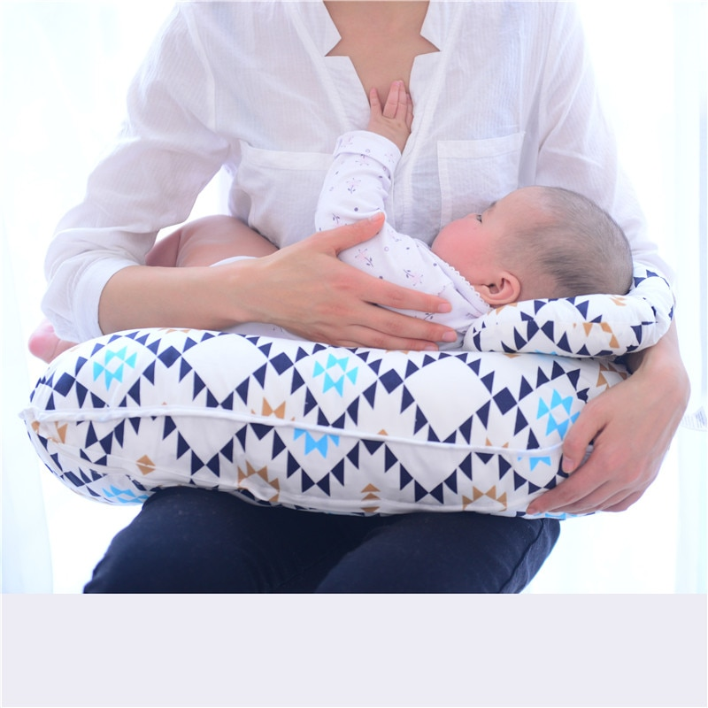 2Pcs/Set Baby Nursing Pillows Maternity Breastfeeding Pillow Infant U-Shaped Newborn Cotton Feeding Waist Cushion