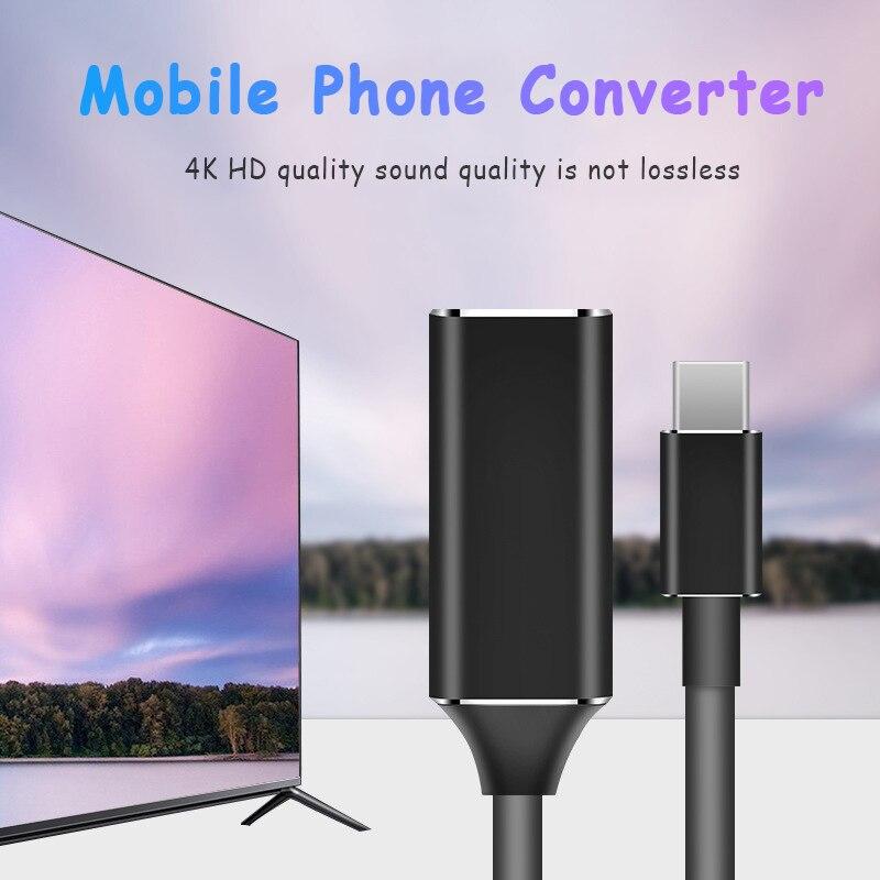 Convertidor de USB-C HUB tipo C a HDMI, adaptador de TV HD...