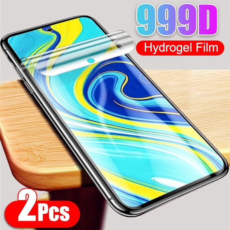 2 uds película de hidrogel suave para Xiaomi Redmi Nota 9 Pro Max 9S 8T 8A 7 8 9 9A 7A 6 K20 K30 Film Protector de pantalla No de vidrio