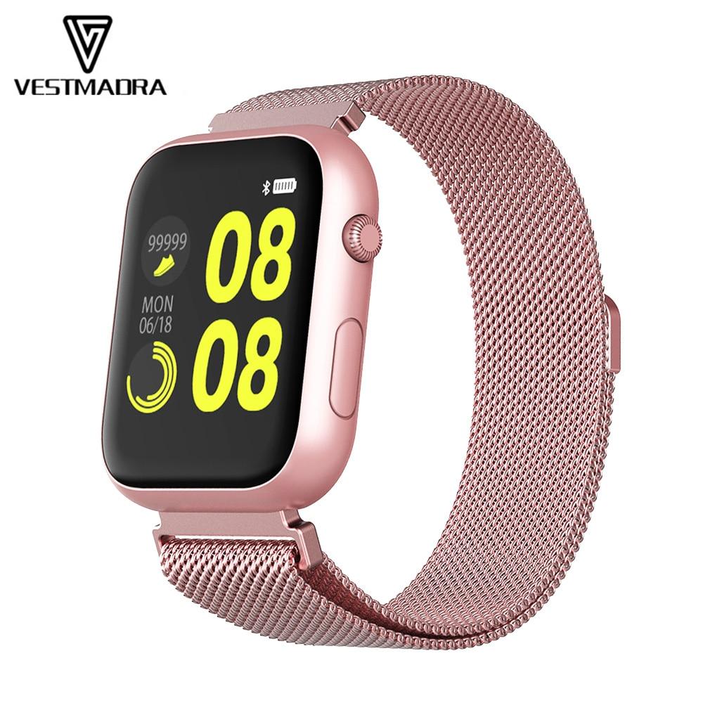 Reloj inteligente VX16 de VESTMADRA con Bluetooth para hombre, reloj deportivo para mujer, frecuencia cardíaca, presión arterial, serie 4, reloj inteligente PK W34 IWO 8 12