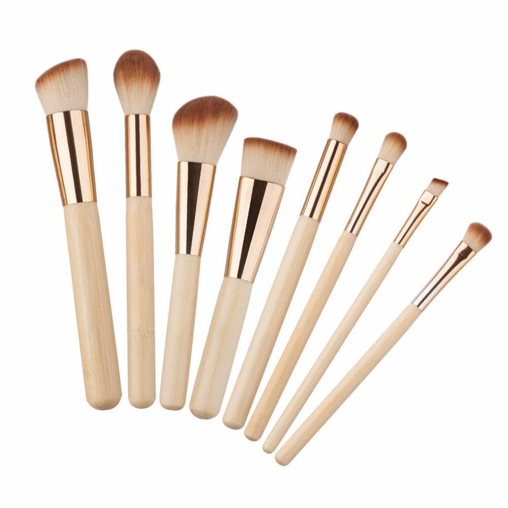 8 unids/set profesional Kit de brochas de maquillaje Facial en la mejilla de la ceja de sombra de ojos cepillo de base de polvo de cosméticos herramientas 2018