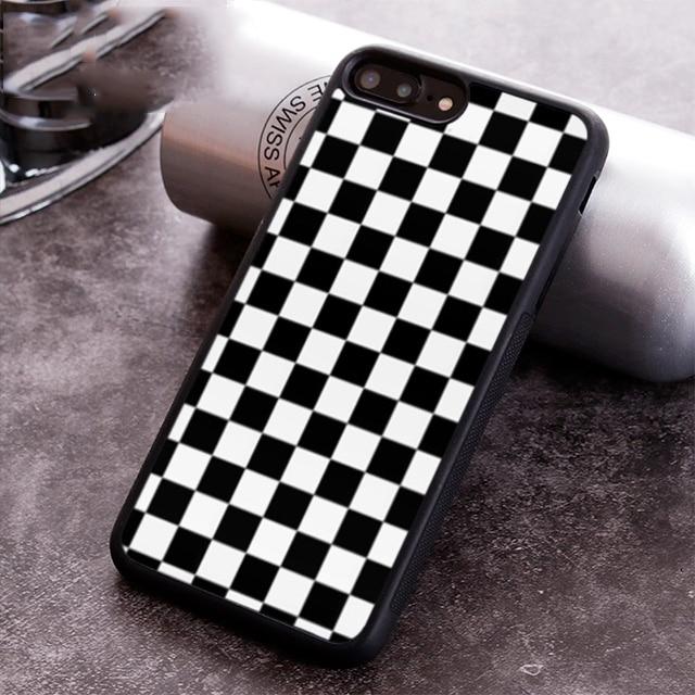 Funda de teléfono a cuadros para iPhone 5 6 6s 7 8 plus 11 pro X XR XS max Samsung S7 edge S8 S9 S10