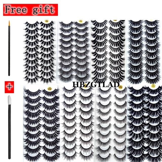 NEW2-10Pairs 3D Faux Mink Eyelashes Natural Thick Long False Eyelashes Dramatic Fake Lashes Makeup Extension Eyelashes maquiagem