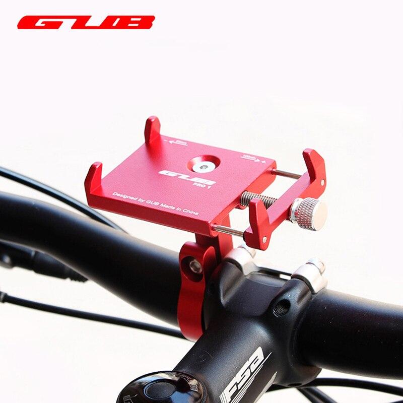 Soporte de teléfono móvil GUB PRO1 de aleación de aluminio para bicicleta, soporte para teléfono inteligente GPS para bicicleta MTB, soporte para manillar de motocicleta para 3,5-6,2 pulgadas