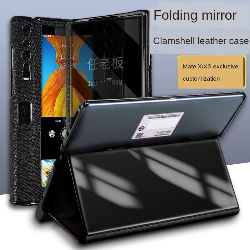 جراب هاتف خلوي من الجلد الطبيعي ، جراب هاتف مقاوم للصدمات لهاتف Huawei Mate X Xs