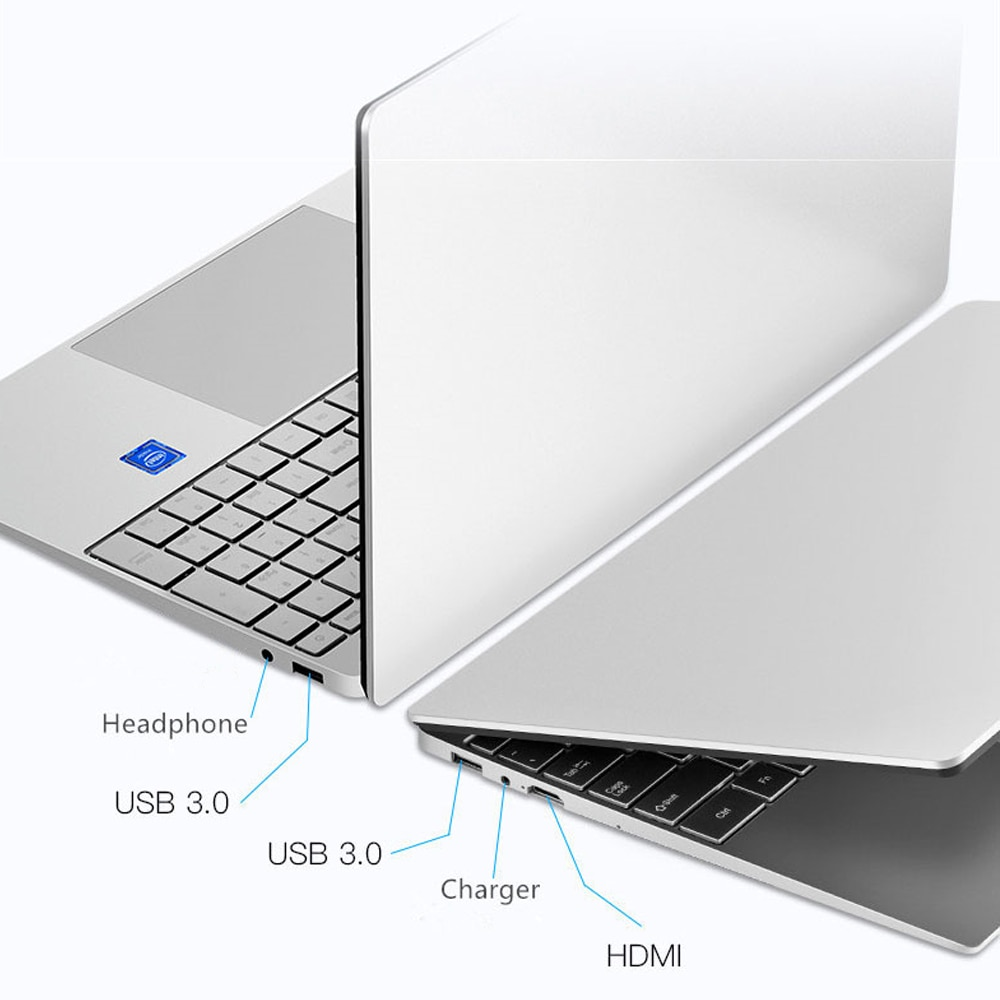 Intel Laptop 15.6 inch Windows 10 Pro 1920*1080 Cheap Portable Laptop DDR4 Ram 12GB Rom 128GB SSD And 1TB HDD HDMI Port Notebook