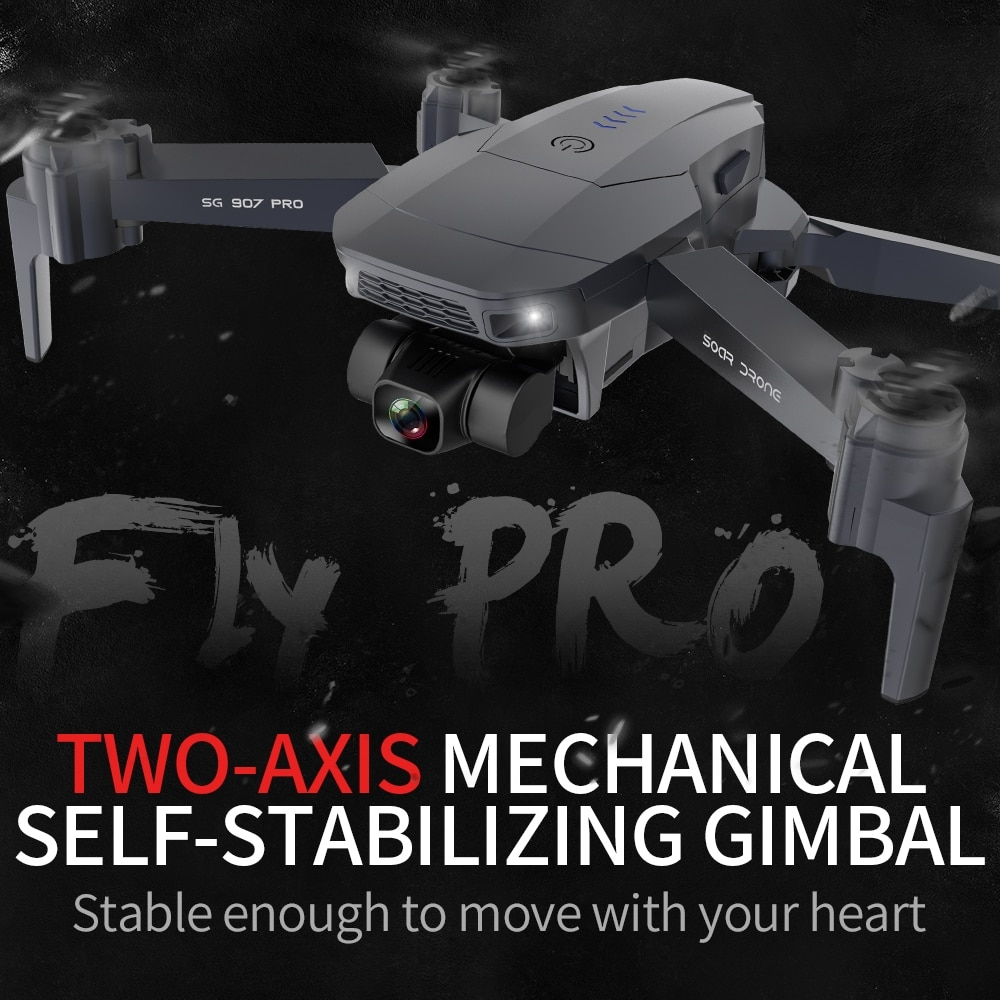 SG907PRO/SG907 Mini Drone GPS 4K HD 2-Axis Gimbal Camera FPV Professional Quadcopter RC Helicopter Foldable Selfie drones Xmas enlarge
