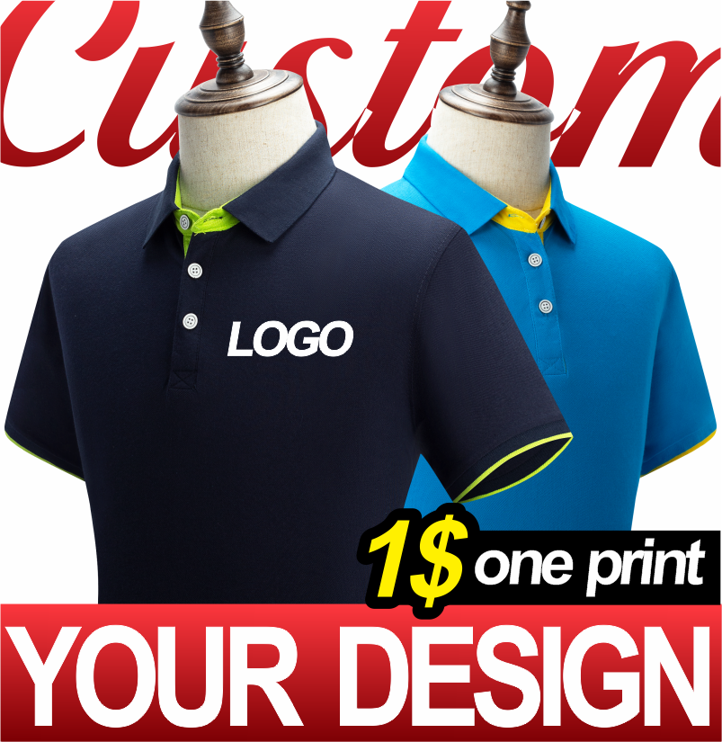 AliExpress - 2021 new men's and women's business polo shirts with custom printing and embroidery DIY your own personalized clothing