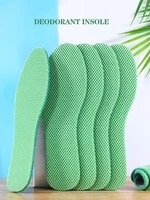 health mint deodorant insoles breathable light weight sport shoes pad big mesh cloth absorb sweat insert soles for unisex