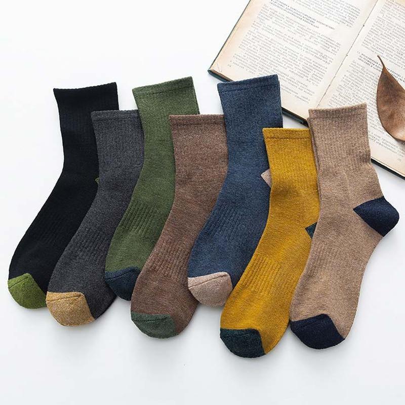 Носки с ворсом, носки для сна, теплые хлопковые утепленные носки, носки на ногу, мужские носки, удобные мужские махровые носки