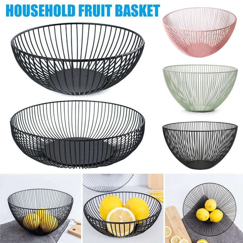 Alta fruta titular cesta vegetal ferro fio doces biscoito tigelas bandeja cozinha armazenamento de alimentos lg66