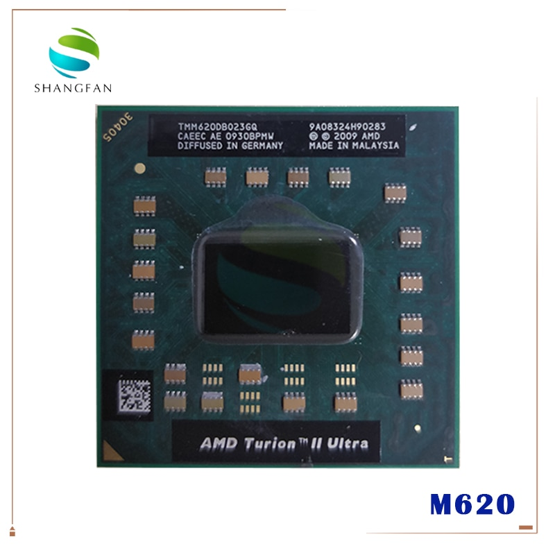 Ноутбук Процессор AMD Turion II Ultra Mobile M620 2,50 ГГц 2 Мб L2 Cache Socket S1 (S1g3) PGA638 M620 TMM620DBO23GQ TMM620