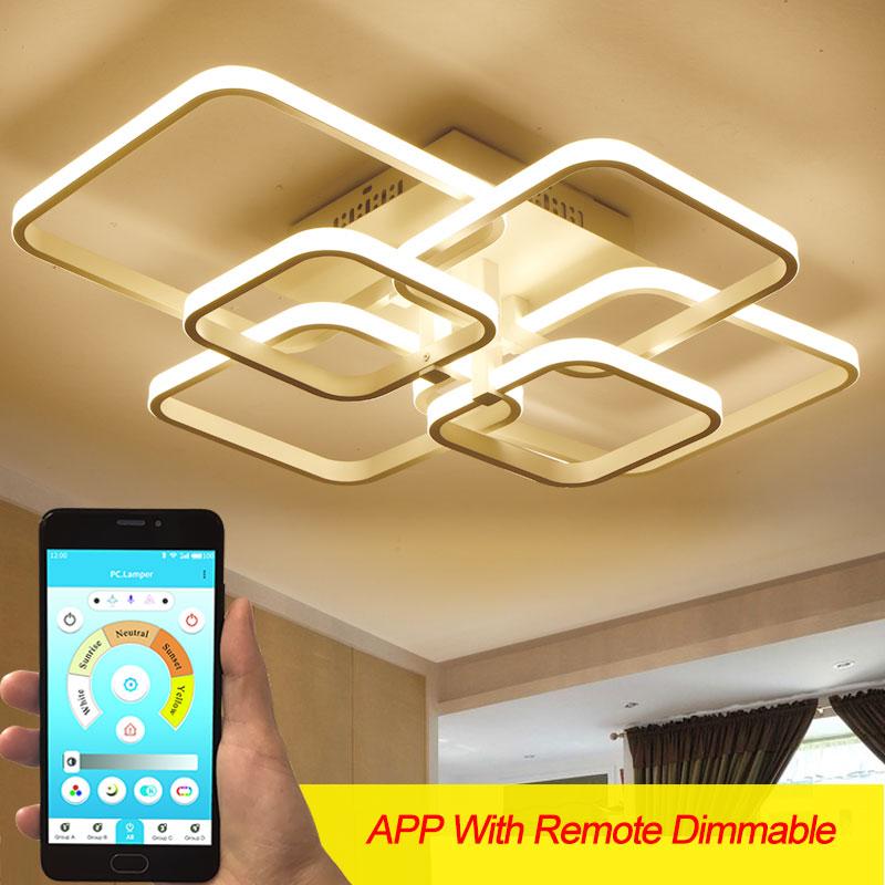 aliexpress.com - Surface Mounted Modern Led Chandelier For Hotel Living Room Bedroom Home AC110v 220V Lustre Led Ceiling Chandelier Lighting Lamp