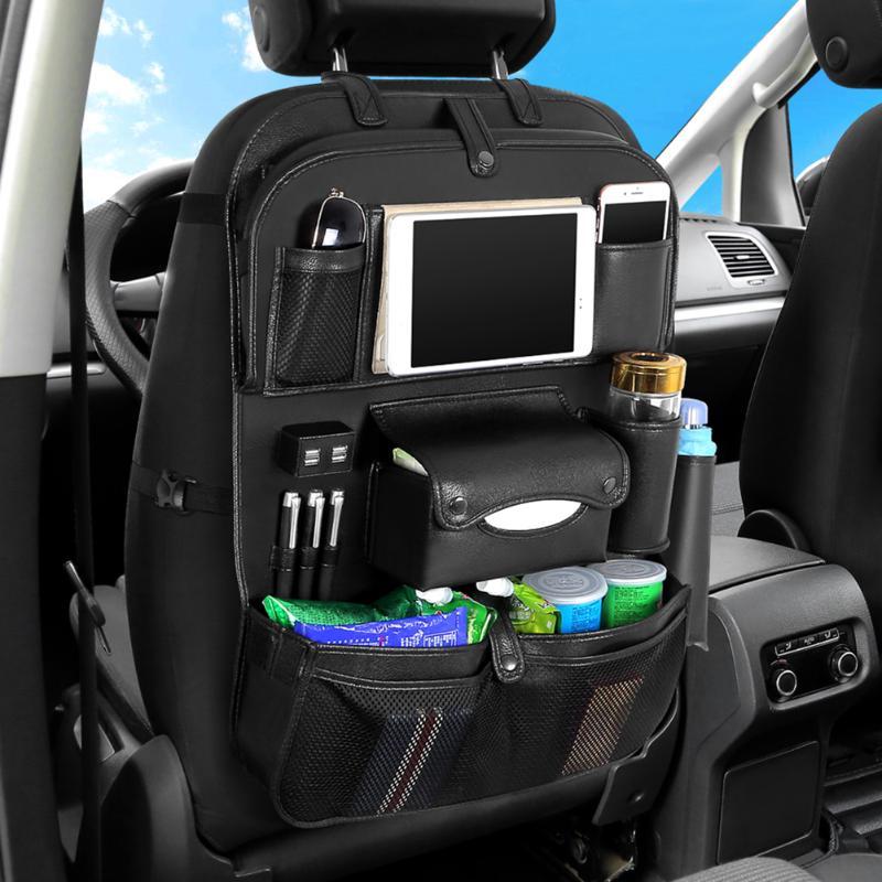 Органайзер для заднего сиденья автомобиля складной стол 4 USB зарядное устройство