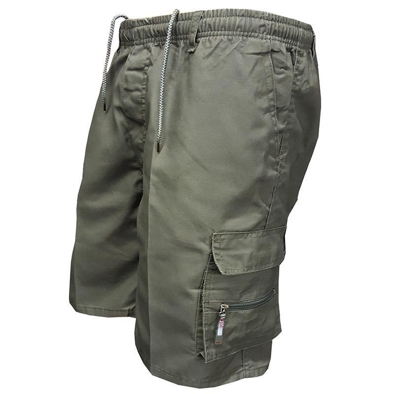 Шорты-карго мужские спортивные, повседневные короткие штаны, штаны-карго для активного отдыха, тактические штаны с несколькими карманами