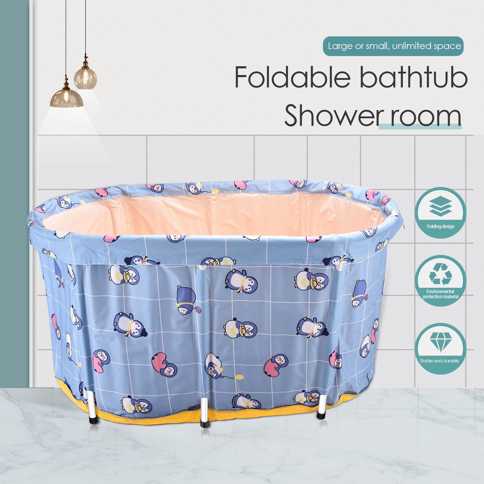 Portable Foldable Cooling Bathtub Double Non-Inflatable Bath Tub Folding Large Full Body Bath Barrel With Frame Adults enlarge