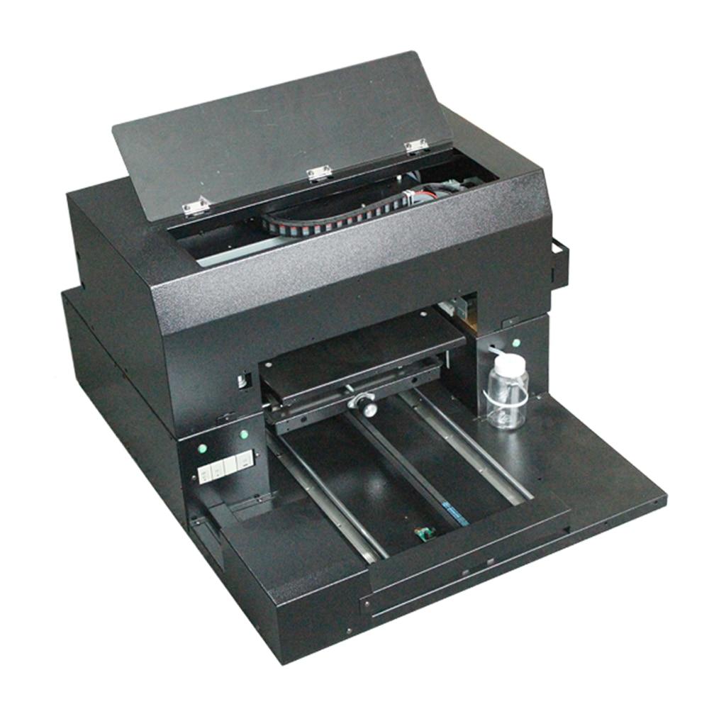 SHBK A3 pequeña universal plana UV plana impresora de cama, DIY teléfono móvil shell vidrio madera panel personalizado equipo de inyección de tinta