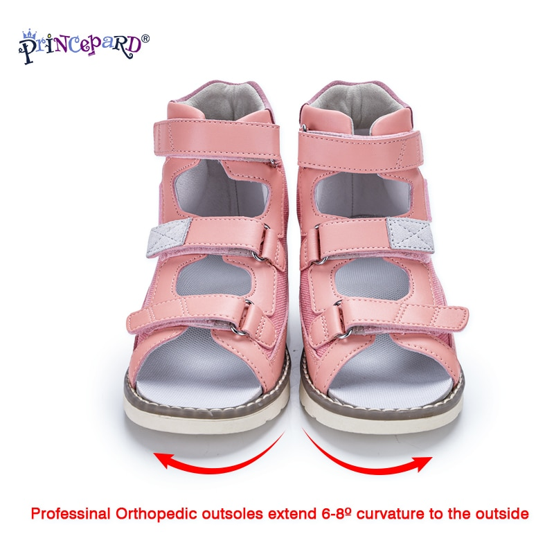 Princepard Toddler Boys Girls Sandals Orthopedic Kids Shoes Children Apring Summer Leather Clubfoot Supportive Shoes for Kids enlarge