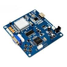 Плата преобразователя видеовыхода HD VGA/RGB/CGA/EGA/YUV К HDMI совместима с игровой машиной Arcade Blue