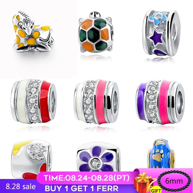925 original, moda DIY, fabricación de joyería, pulsera para mujer, abalorios de plata, collares, colgantes, colores en lote para mujer