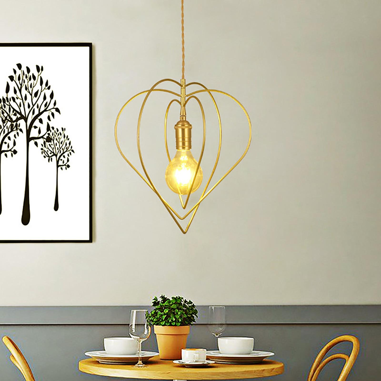 Lámpara Led giratoria con forma De corazón para el hogar, moderna, nórdica,...