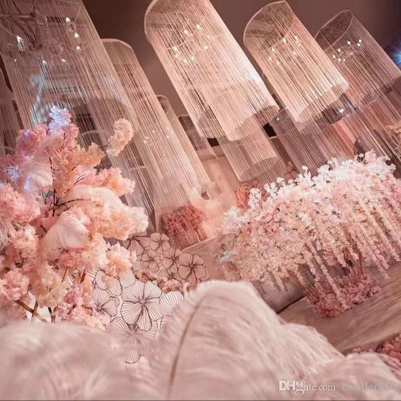 زخرفة سقف على شكل عجلة فيريس ، تصميم راقي ، حلقة معلقة بخط ترهل ، إكليل ستارة ، إكسسوارات تزيين حفلات الزفاف