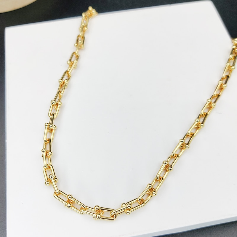 2021 Trend HardWear Series 925 Sterling Silver Necklace Women's U-Shaped Chain Personality All-Match Jewelry Gift Luxury brand