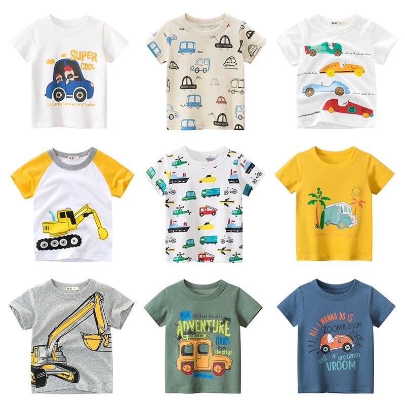AliExpress - Boys T Shirt For Summer Infant Kids Boy Girls Car T-Shirts 2-8 Years Cartoon Print Baby Clothes Cotton Toddler Children Clothing