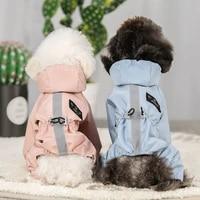 pet cat dog raincoat hooded reflective puppy s xxl dog rain coat waterproof jacket for dogs pet supplies outdoor wholesale 2021