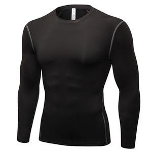Men Compression Running T Shirt Fitness Tight Long Sleeve Sport tshirt Training Jogging Shirts Gym Sportswear Quick Dry rashgard