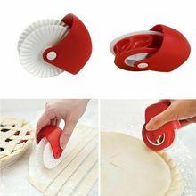 Plastic Pizza Wheel Cut Tools Household Pizza Knife Cake Lattice Tools Wheel Waffle Cookies Kitchen Baking Cutter Tools Bakeware