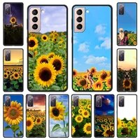 pretty sunflower flower summer phone case for samsung galaxy s20 fe s21 plus shell for samsung s21 s20 ultra smartphone cover