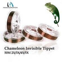 Maximumcatch Chameleon Unsichtbare Tippet Fly Linie 50M 2X/3X/4X/5X Fly Angelschnur