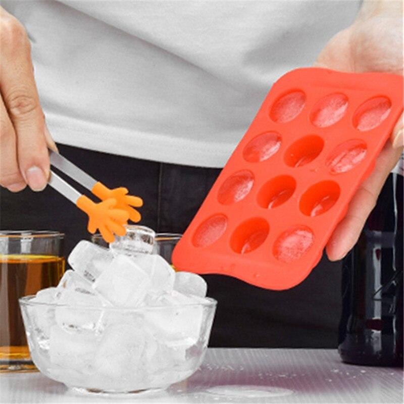 Bandeja con molde de silicona para helado en forma de estrella/corazón/redondo/forma cuadrada, molde decorativo para pasteles, 12 cuadrículas