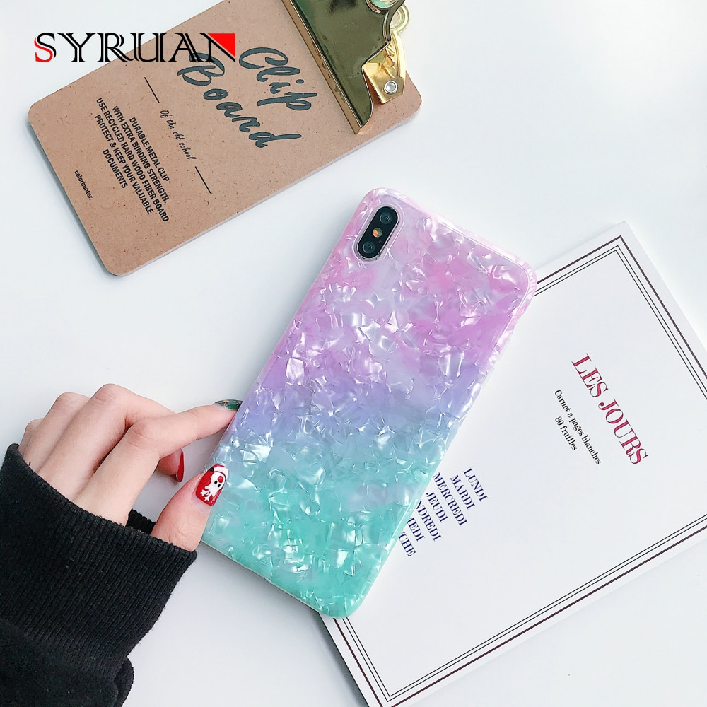 Moda glitter mármore caso de telefone para iphone 11 telefone móvel iphone 7 8 plus 6s xr xs 11 pro max x macio imd escudo