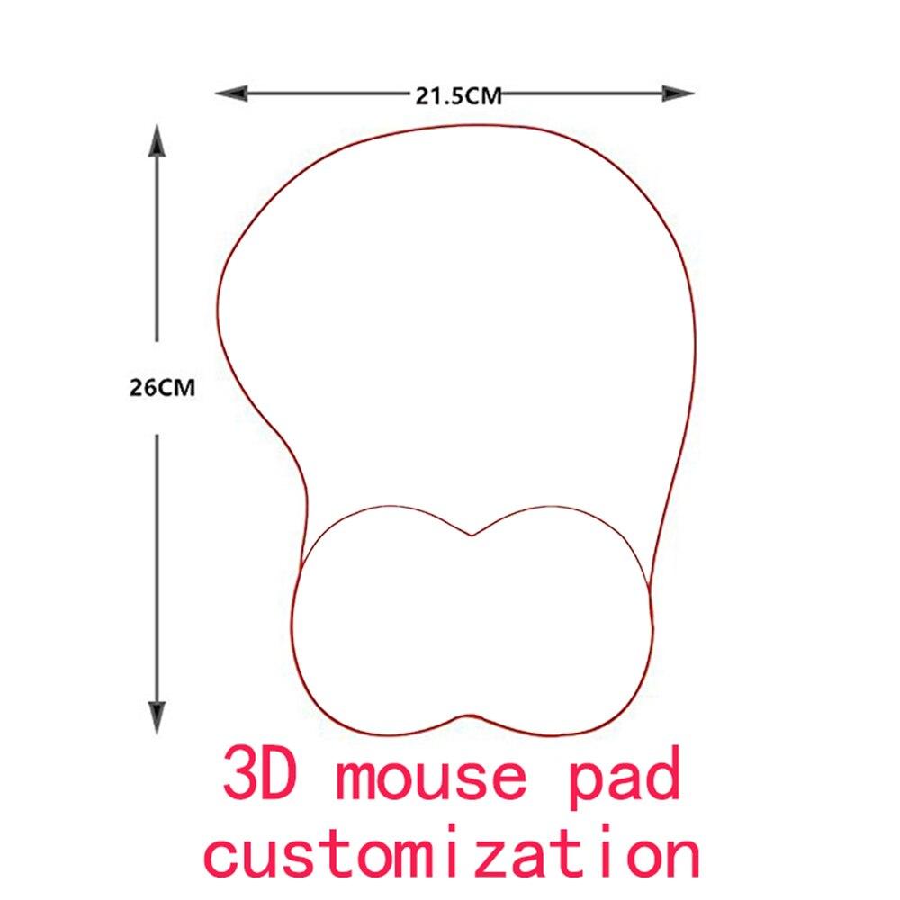 XGZ لتقوم بها بنفسك مخصصة حصرية ثلاثية الأبعاد سيليكون المعصم مسند الماوس الارتباط.