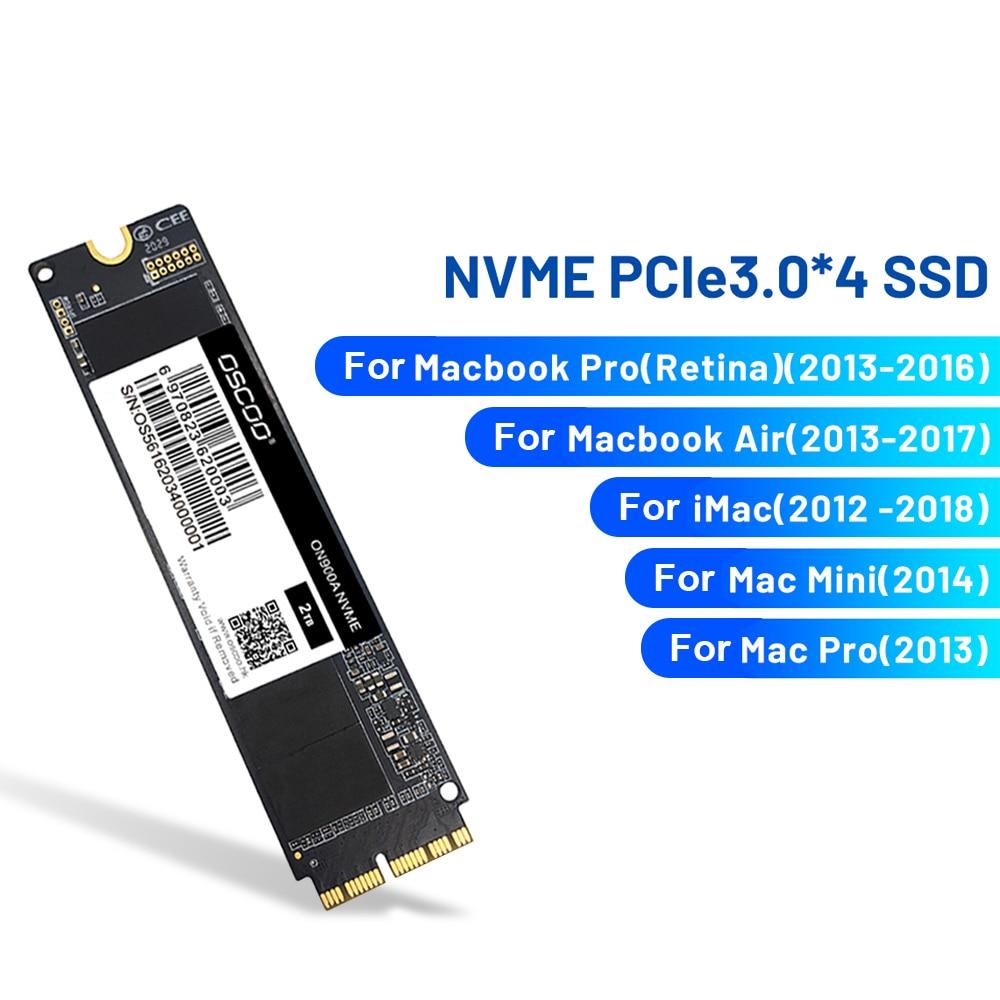 ON900A PCIe NVME SSD 256GB/512GB/1 تيرا بايت محرك الحالة الصلبة لماك بوك 2012-2018 A1369 A1465 A1466 A1502 كمبيوتر محمول