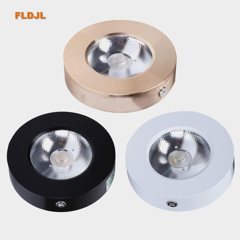 Luz empotrada delgada LED 3W5W 7W 10W 15WCOB LED foco de techo AC110-240V gabinete foco blanco cálido