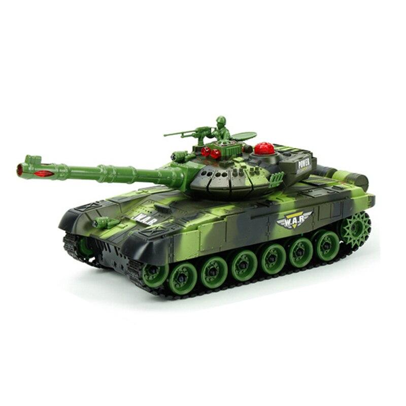 Tanque RC, mando a distancia, Radio vehículo táctico, batalla principal, modelo de coche con tanque sobre orugas, sonido militar de guerra, juguetes electrónicos para niños, 2 colores