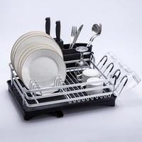 silver not rust aluminium kitchen drying dish rack sink drain holder cutlery drainer accessories storage plates bowls organizer