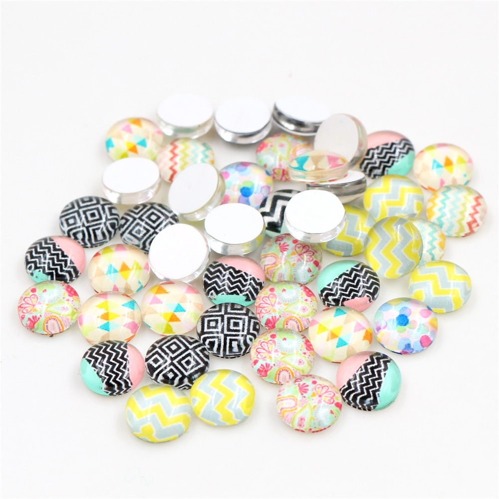 8mm 10mm 12mm 14mm 20mm 25mm  Mixed Handmade Fashion Photo Glass Cabochons Pattern Domed Jewelry Accessories Supplies 2020 hot sale new fashion 5pcs lot 25mm handmade photo glass cabochons
