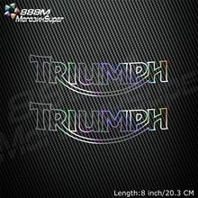 Moto réfléchissant Laser casque réservoir Pad décoration autocollant moto décalcomanies pour Triumph DAYTONA 675 955i tigre 800 1050
