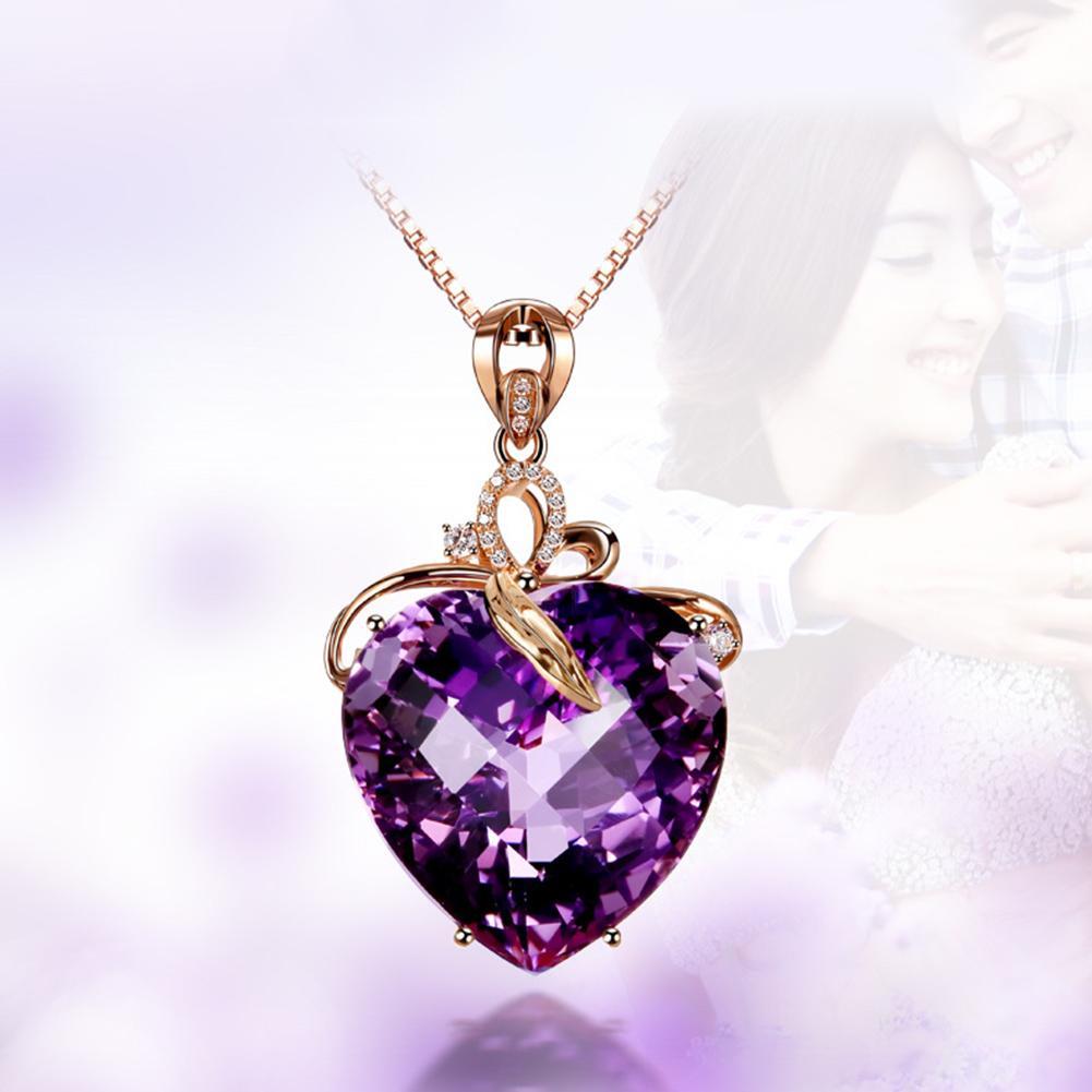 Collar Vintage con colgante en forma de corazón para mujer, cadena de...