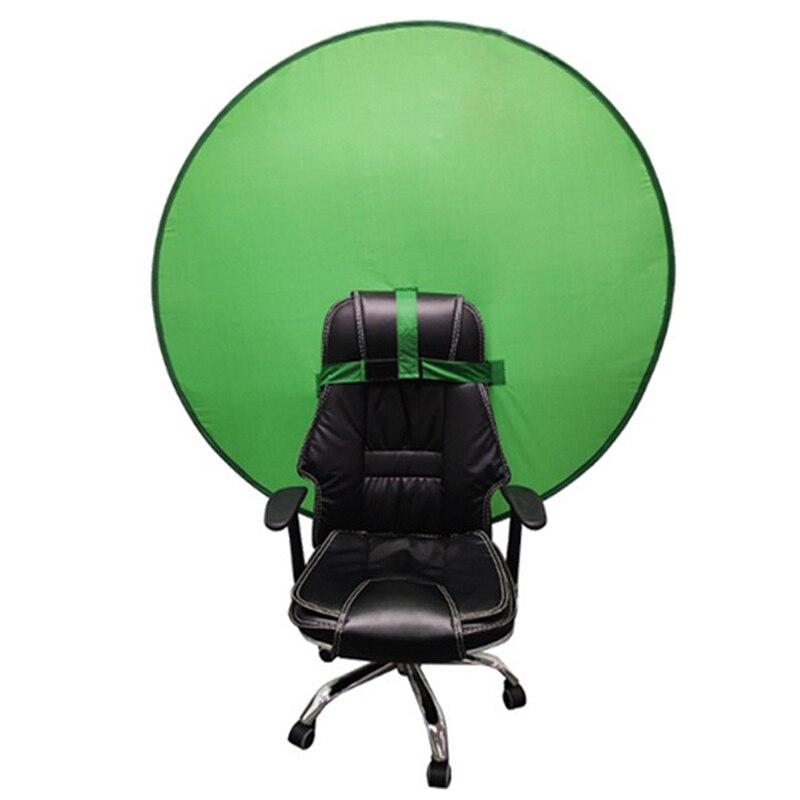 شاشة خضراء دائرية التصوير خلفية الصورة المحمولة عاكس للبث المباشر يوتيوب فيديو ستوديو 142cm56 بوصة
