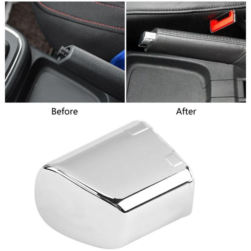 Palanca de freno de mano para coche, cubierta de botón de garaje, decoración cromada para Polo Cross 6Rd 711 333 A, accesorios de estilismo para coche 1 unidad