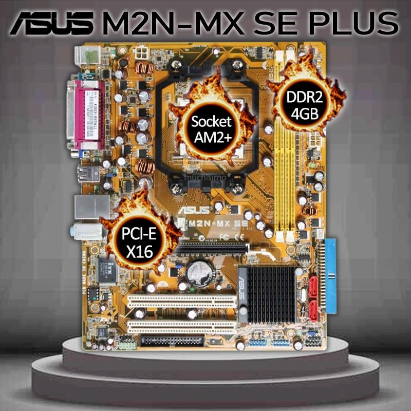 Socket AM2+ Asus M2N-MX SE PLUS Motherboard Athlon64/Athlon 64 X2/Athlon64 FX DDR2 PCI-E 16X NVIDIA NF6100-430 Placa-mãe AM2+