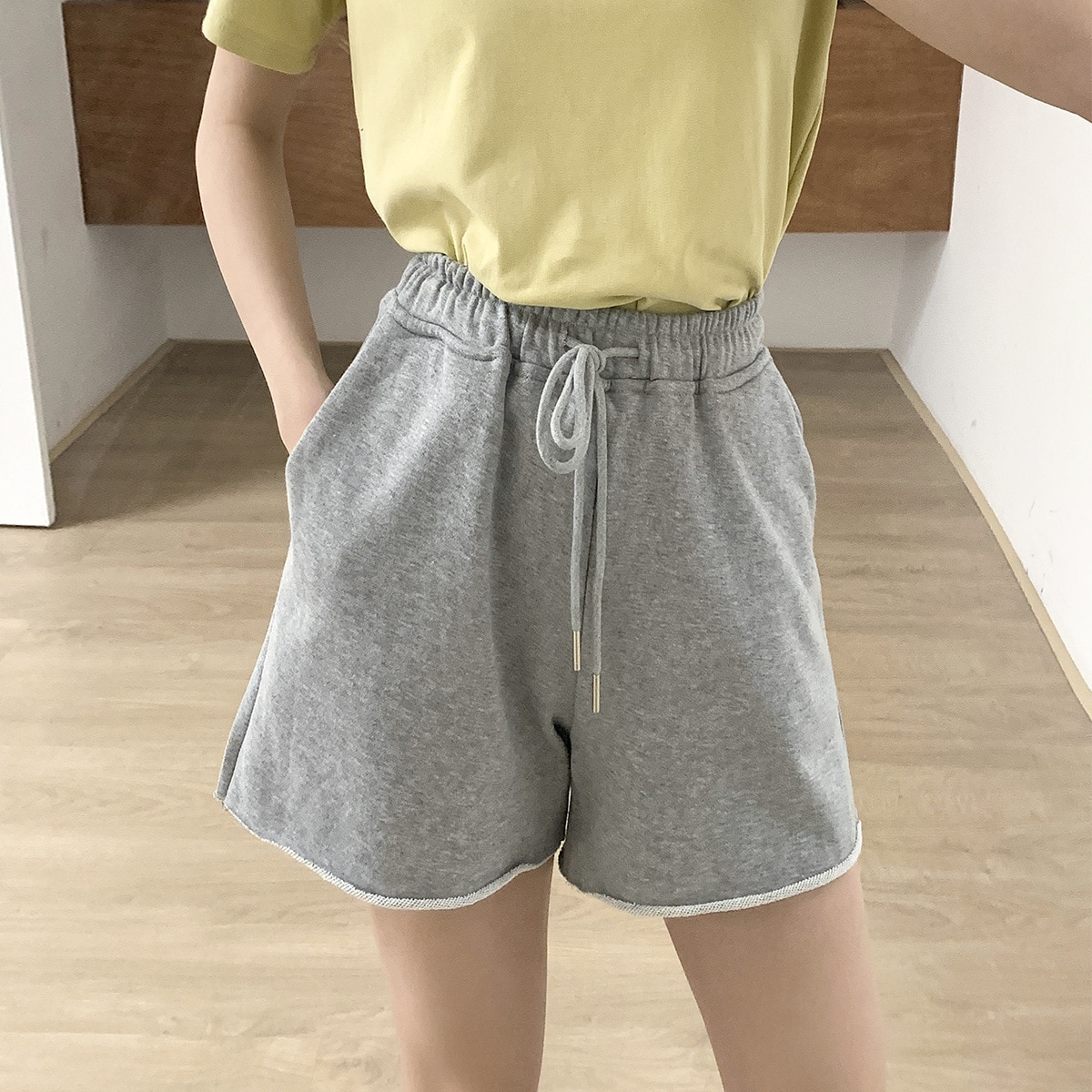 2021 New Summer Women Short Pants Casual High Waist Pure Color Female Trousers Outwear Shorts