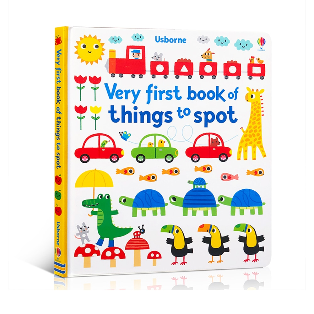 Usborne My Very First Book of Things To Spot English Colouring Board Reading Book Baby Educational Cardboard Picture Books