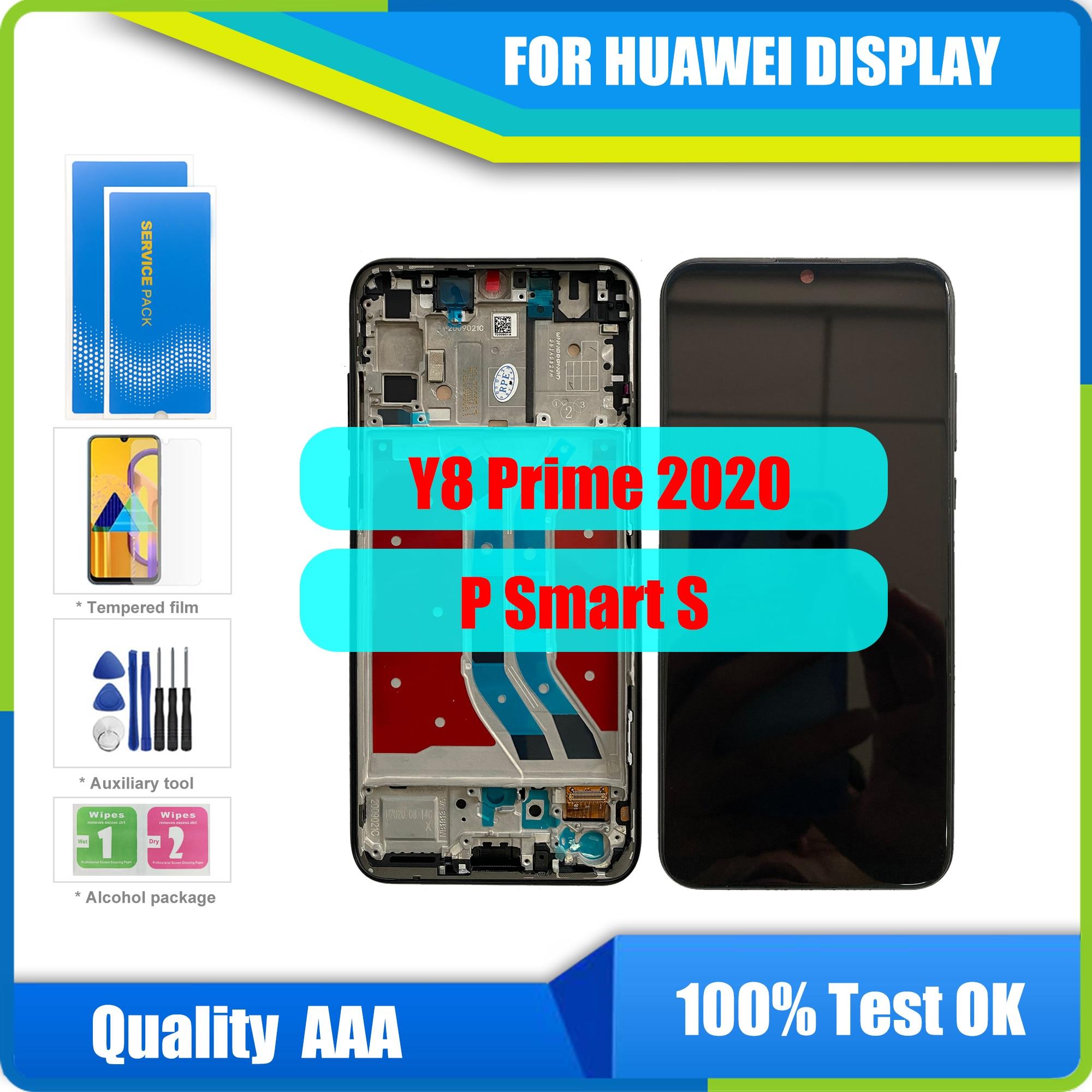 100% جديد لهواوي P الذكية S شاشة LCD تعمل باللمس محول الأرقام الجمعية استبدال لهواوي Y8p 2020 LCD AQM-LX1 Y8P lcd